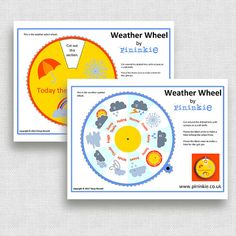 Weather Wheel / Weather Station - Home School Printable - Educational Toy - PDF Printable    This listing is for a weather wheel that can be printed and