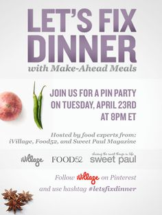 Join us now a pin party with @Food52 and @?? ?? S. Paul Magazine Use hashtag #letsfixdinner to follow.