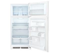 kenmore 69313. frigidaire gallery custom-flex™ 18.2 cu. ft. top freezer refrigerator pearl white kenmore 69313