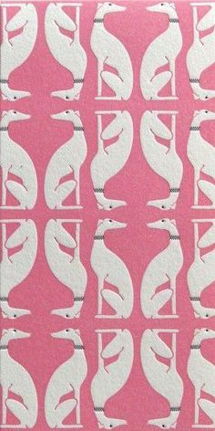 greyhound wallpaper so pretty in pink. would love from my boudoir.