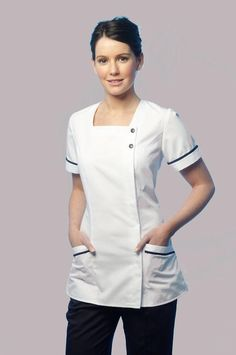 The Latest Nursing Uniforms Come In Stylish Options Healthcare Uniforms, Staff Uniforms, Medical Uniforms, Work Uniforms, Nursing Uniforms, Spa Uniform, Scrubs Uniform, Cute Nursing Scrubs, Medical Scrubs