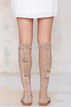 Jeffrey Campbell Valeria Suede Lace-Up Sandal