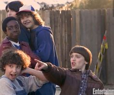 Will, Eleven, Lucas, Dustin, and Mike.