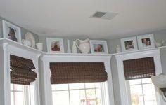 Hello Newman's!: kitchen  Trim and shelf above window
