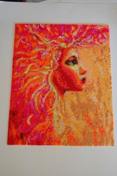 she is fire perler bead art made by me - amanda wasend