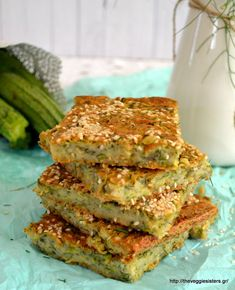 Vegetarian Recepies, Veggie Recipes, Vegan Vegetarian, Diet Recipes, Recipies, Veggie Meals, Greek Desserts, Greek Recipes, Zucchini Pie