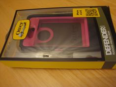 Otterbox Defender Case Holster iPhone 4 4s Pink Black in Box Belt Clip ApPlE #OtterBox