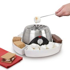 Allie, You need one of these....  The Indoor Flameless Marshmallow Roaster- Hammacher Schlemmer