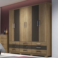 Image may contain: indoor Wooden Wardrobe Closet, Wardrobe Room, Wardrobe Design Bedroom, Wardrobe Furniture, Bedroom Bed Design, Bedroom Furniture Design, Modern Wardrobe, Wardrobe Laminate Design, Wardrobe Door Designs
