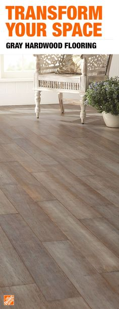 Tips, trends and projects, from hardwood floors to carpet installation and area rugs. Find everything you need to update your flooring at The Home Depot. Vinyl Plank Flooring, Kitchen Flooring, Wood Flooring, Grey Hardwood Floors, Wood Floor Bathroom, Bathroom Ideas, Carpet Installation, Farmhouse Remodel, Mediterranean Home Decor