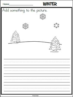 Winter Writing Page with Prompt
