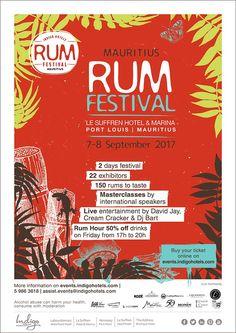 Le Suffren Hotel & Marina - Mauritius RumFest 2017. Tel: 59 86 36 18