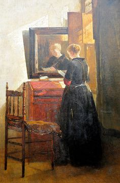 Sunshine in the House and Heart Christoffel Bisschop (Dutch, Oil on canvas. A woman reads a letter, perhaps from an admirer or her husband, which cheers her heart and brings sunshine and joy to the house. Girl Reading Book, Books To Read For Women, Classic Paintings, Dutch Painters, Dutch Artists, Chiaroscuro, Look In The Mirror, Mirror Image, Museum