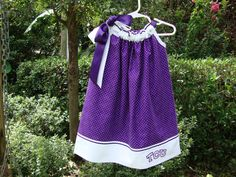 3T Girl's Pillowcase Dress  TCU  Handmade by TiedToBeFit on Etsy, $38.00