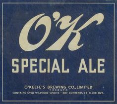 O'K Special Ale by Thomas Fisher Rare Book Library, via Flickr