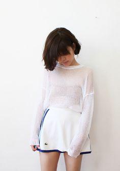White Mesh #fashion #grunge
