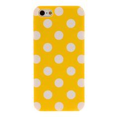 Color Polka Dot Gummibelagt PC Hard Case for iPhone 5/5S (assorterede farver) – DKK kr. 15