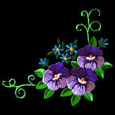 floral embroidery - Google Search