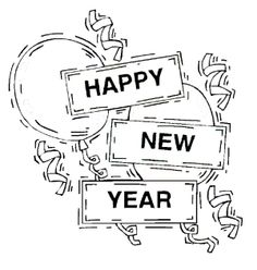 Happy New Years Eve Coloring Page