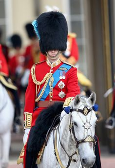 Prince William Photos - Prince William, Duke of Cambridge during Trooping the Colour - Queen Elizabeth II's Birthday Parade, at The Royal Horseguards on June 2014 in London, England. - Queen Elizabeth II's Birthday Parade: Trooping The Colour