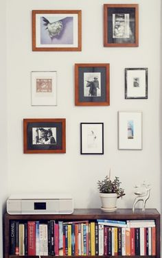 Lovely idea to gather all pictures together, instead of having them all over the house.
