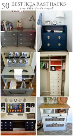 Ikea Rast hacks, 50 of the best Ikea Rast hacks, painted dresser, dresser makeover, Ikea rast makeover, nightstand, bedside table, Ikea hacks