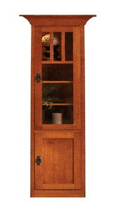 """Mission Bookcase Made In The USA 24"""" Glass Door Amish-Furniture-House"""