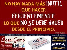 Sobre la, a veces, inutilidad de la eficiencia. www.josemanuelarroyo.com