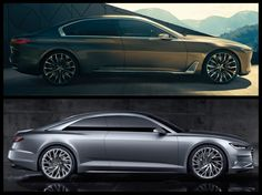 Audi Prologue Concept vs BMW Vision Future Luxury. To see how the BMW and Audi stacks up against each other, we put together a photo comparison below.