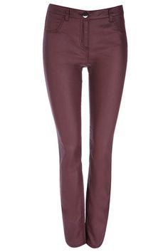 Berry Coated Skinny Jean from Wallis Latest Fashion, Womens Fashion, Wallis, Trousers, Pants, Berry, Fashion Dresses, Black Jeans, Skinny Jeans