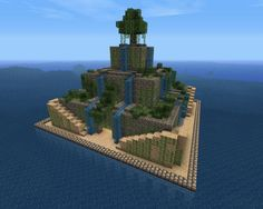 The Hanging Gardens of Babylon. It would be really cool to build something like this on top of a water temple in the upcoming 1.8 update.