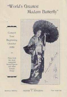 Volantino Pubblicitario Concerto Soprano Tamaki Miura Al Steinway Building N Y