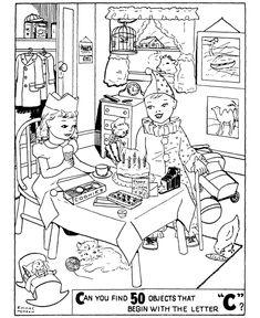 Kids Bedroom Hidden Object printable find hidden objects games | free printable hidden