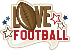 Love Football , or tennis, or basketball. Silhouette Cameo Files, Silhouette Design, Digital Stamps, Digital Scrapbooking, Sports Theme Classroom, Image Font, Scrapbook Titles, Cute Clipart, Erin Condren Life Planner