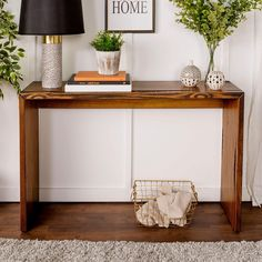 Basic Reclaimed Wood Entry Table Idea with Metallic Finish - Best Entry Table Decor Ideas: How To Decorate A Foyer Entryway Table For A Perfect Front Door Entrance Area White Entry Table, Modern Entry Table, Round Entry Table, Rustic Entry Table, Entrance Table, Entry Tables, Sofa End Tables, Entry Furniture, Pine Furniture