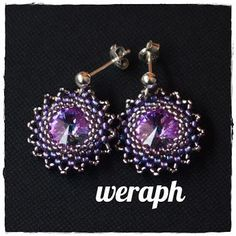 How to bead around rivoli? It's easy with Weraph's tutorial. In Polish but has nice pictures to explain.