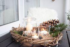 * 4 * Rustikale Weihnachtsdeko für den Balkon