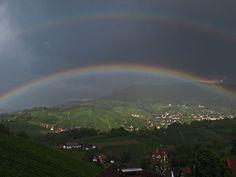 Schwarzwald/ Sasbachwalden doppelter Regenbogen Germany/Black Forest / Sasbachwalden double Rainbow