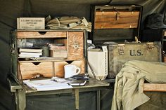 Here's a look at 3 exceptional field desks that used to let the adventurer take along the whole office in style.