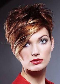 Resultado de imagen para short hair with long bangs