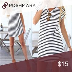 Striped Tee Dress New never used. Must sell. Dresses