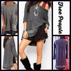 Selling this FREE PEOPLE Tunic Sweatshirt Loose Knit Pullover in my Poshmark closet! My username is: People Free People Dress, Free People Tops, Charcoal Color, Model Photos, Fitness Fashion, Long Sleeve Tees, Tunic, Pullover, Sweatshirts