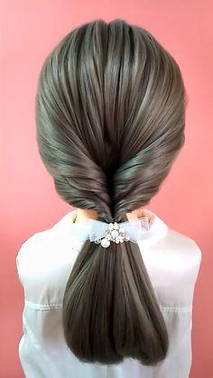 Girly Hairstyles, Easy Hairstyles For Long Hair, Braids For Long Hair, Pretty Hairstyles, Braided Hairstyles, Hair Tips Video, Hair Videos, Hair Up Styles, Medium Hair Styles