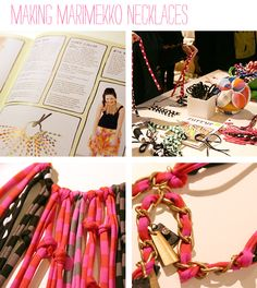 cool necklace idea for painted fabrics!