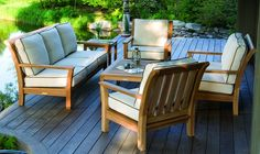 Chelsea Teak Collection, beautiful for indoors or outdoors.