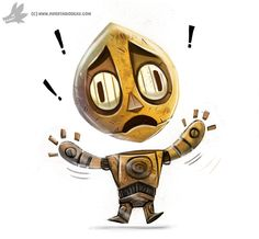 Daily Painting 873. #C3PO #StarWars by Cryptid-Creations.deviantart.com on @DeviantArt