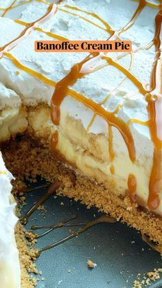 Bakery Recipes, Tart Recipes, Sweet Recipes, Food Therapy, Summer Dessert Recipes, Banoffee, Banana Pudding, Cream Pie, No Bake Desserts