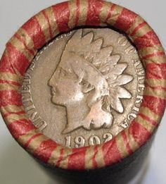 WHEAT ROLL + 1902 INDIAN HEAD CENT + 1944 LINCOLN WHEAT CENT + 3 BONUS COINS !