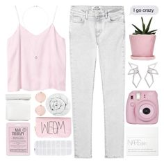"""""""I GO CRAZY"""" by expresng ❤ liked on Polyvore featuring Acne Studios, Monki, Dot & Bo, Love 21, Fujifilm, Forever 21, W. Britt, NARS Cosmetics, Linda Farrow and The Fine Bedding Company"""