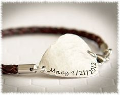 Leather Bracelet - Personalized Jewelry